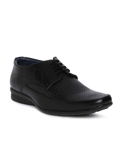Bata Men Black Formal Derby Shoes