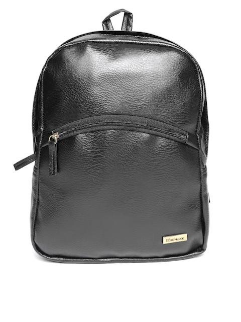 Impulse Unisex Black Solid Backpack