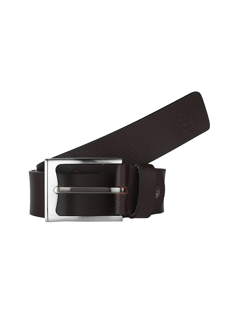 Kara Men Brown Textured Belt