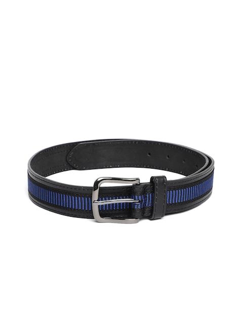 HAMILTON Men Black & Blue Striped Belt