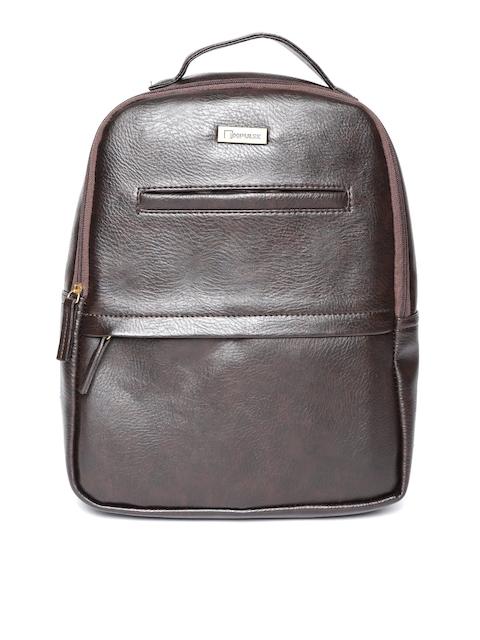 Impulse Unisex Brown Solid Backpack