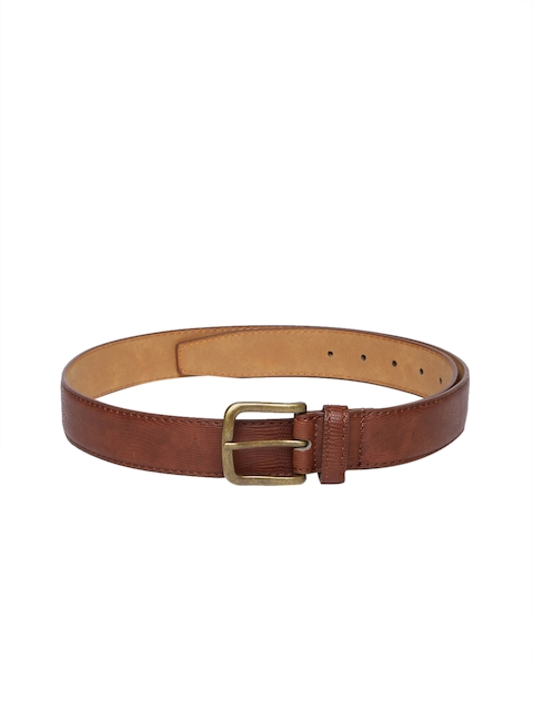 HAMILTON Men Tan Brown Textured Belt
