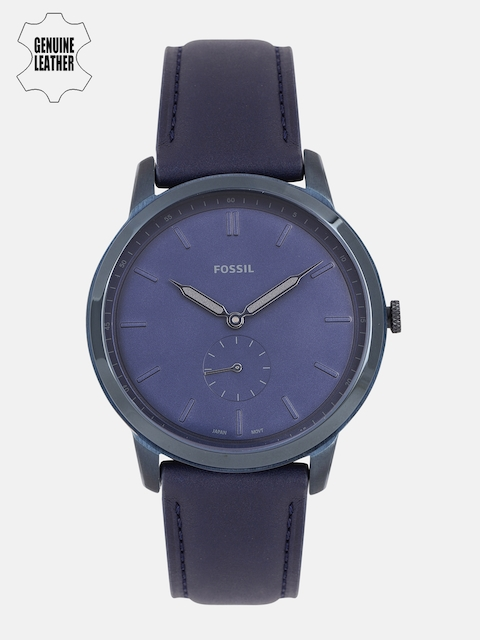 Fossil Men Navy Blue Analogue Watch FS5448