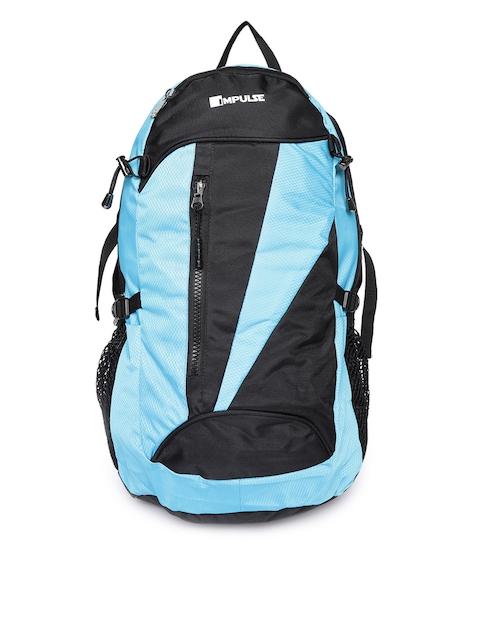 Impulse Unisex Blue & Black Colourblocked Backpack