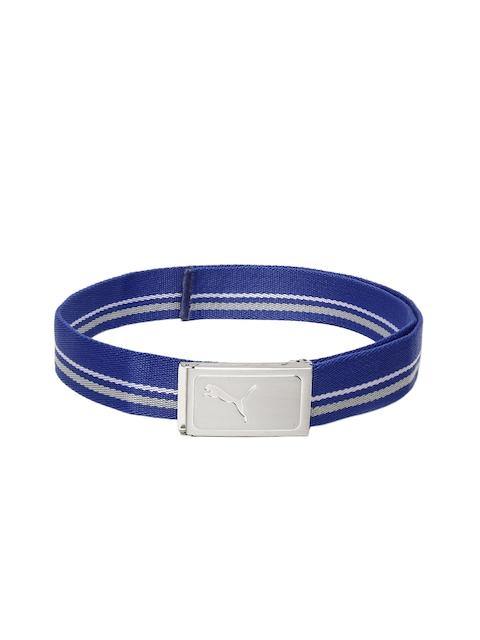 Puma Men Blue Striped Belt