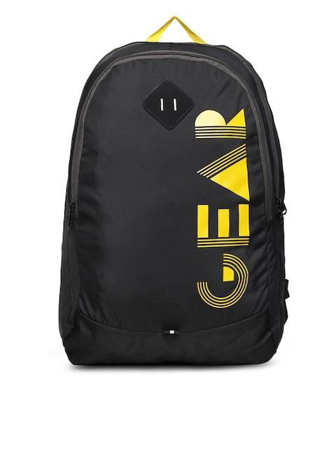 Gear Unisex Black Brand Logo Backpack