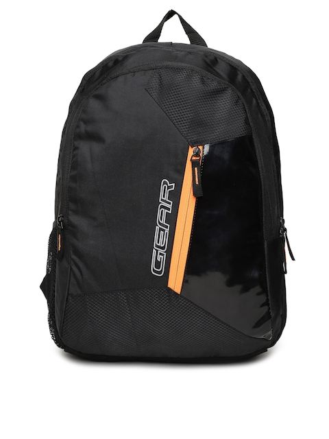 Gear Unisex Black Solid Backpack