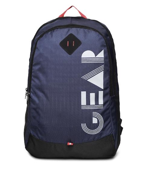 Gear Unisex Navy Blue Brand Logo Backpack