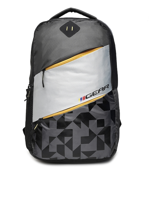 Gear Unisex Grey Graphic Backpack