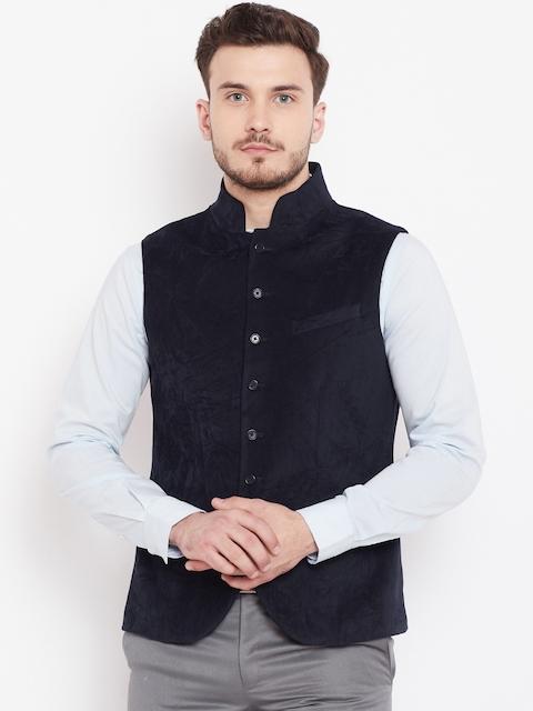 Blackberrys Men Black Velvet Nehru Jacket