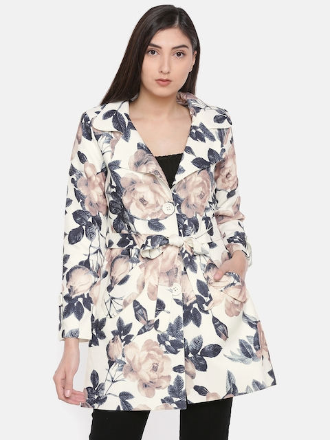 CODE by Lifestyle Women Beige Printed Tailored Jacket
