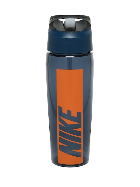 Nike Unisex Blue & Orange TR Hypercharge Graphic Straw Water Bottle 700 ml
