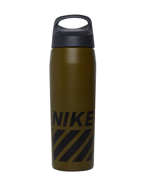 Nike Unisex Olive Green Printed HPERCHARGE SS Water Bottle 710ml