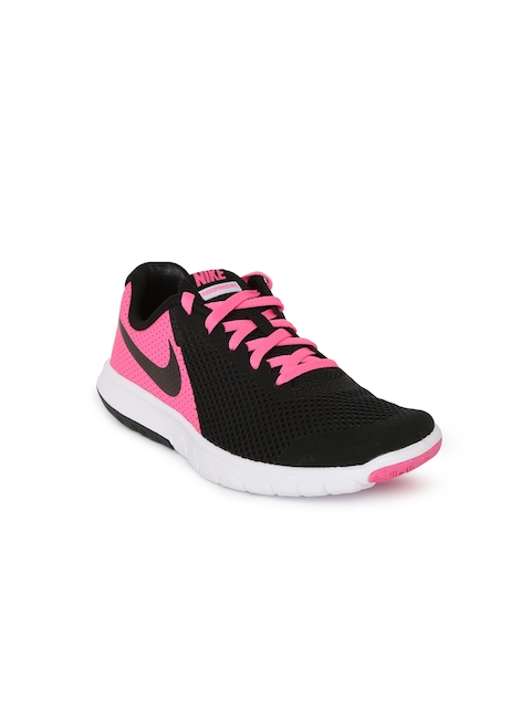 Nike Girl Black & Pink Flex Experience 5 (GS) Running Shoes