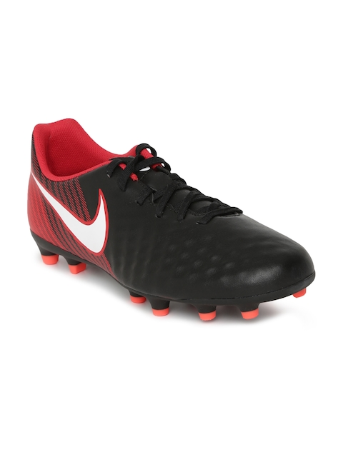 Nike Men MAGISTA OLA II FG Black Leather Football Shoes