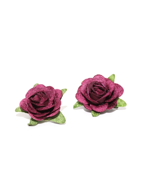 Accessorize Set of 2 Pink Floral Alligator Hair Clips