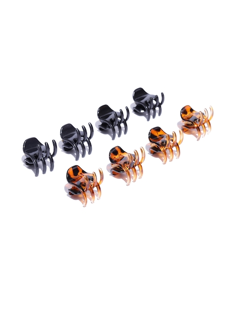 Accessorize Set of 8 Black & Brown Claw Clips