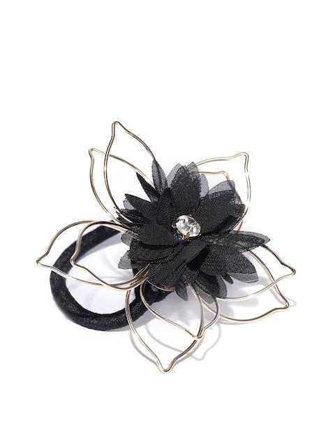 Accessorize Black Embellished Ponytail Holders