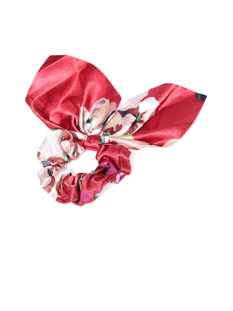 Accessorize Red Printed Ponytail Holders