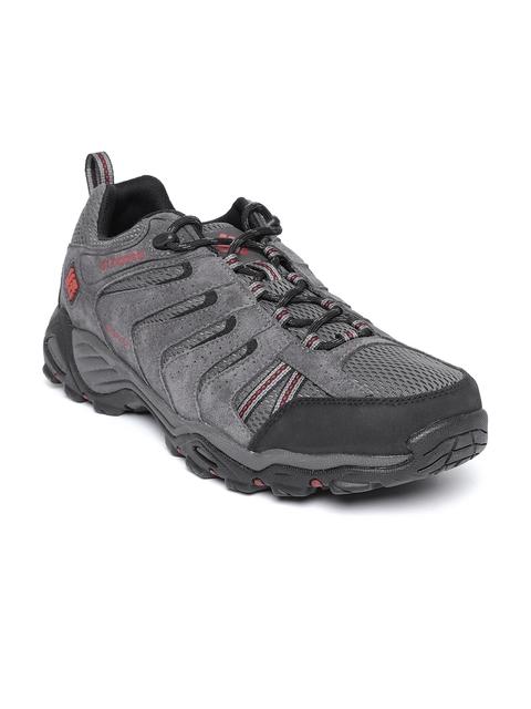 Columbia Men Grey North Plains II Waterproof Hiking Shoes