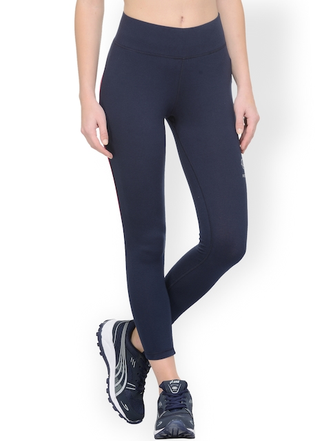 Restless Navy Ankle-Length Tights
