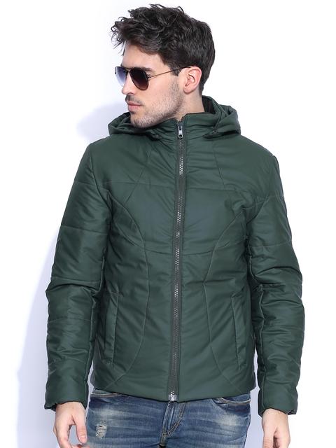 HRX by Hrithik Roshan Dark Olive Green Padded Jacket