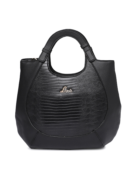 Lavie Black Textured Handheld Bag