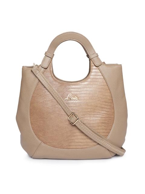 Lavie Brown Snakeskin Textured Handheld Bag