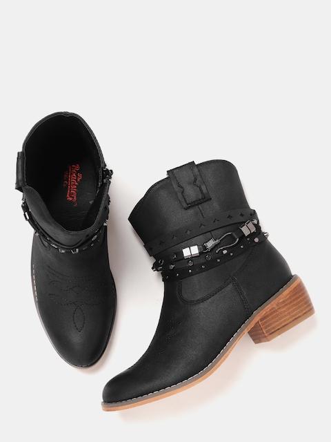 Roadster Women Black Solid Heeled Boots