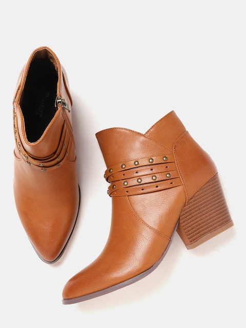 Roadster Women Tan Brown Solid Heeled Boots