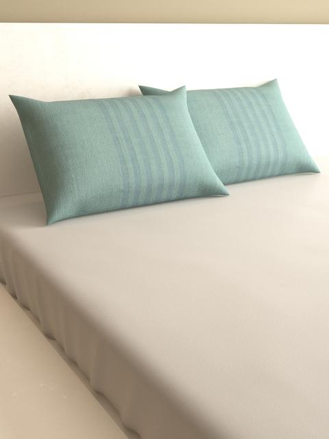 MARK HOME Fluorescent Green Set of 2 400 TC Rectangular Pillow Covers