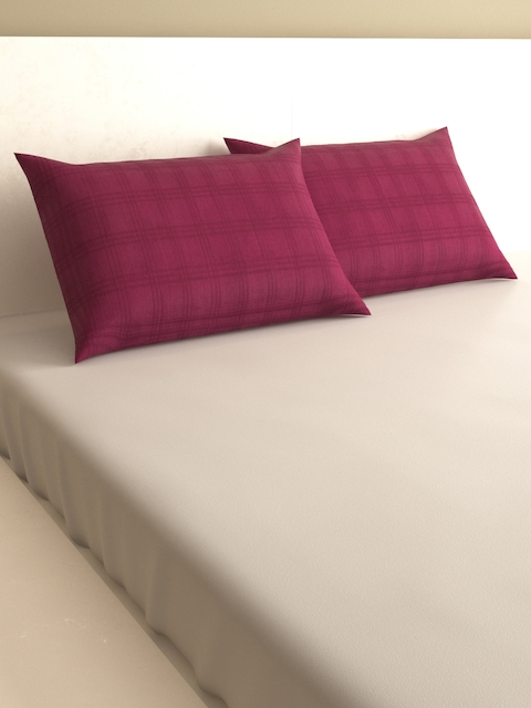 MARK HOME Burgundy Set of 2 Rectangular Pillow Covers