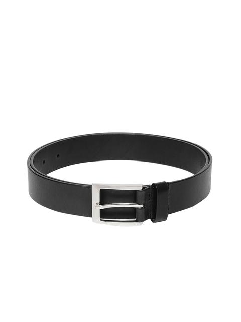 Hidesign Men Black Textured Belt