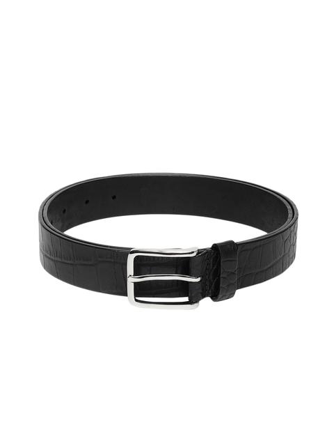 Hidesign Men Black Solid Belt