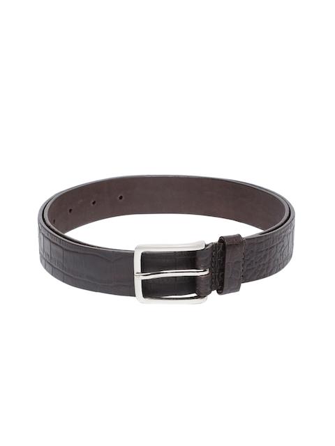 Hidesign Men Brown Textured Leather Belt