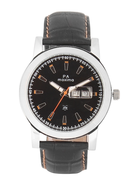maxima Men Black Analogue Watch