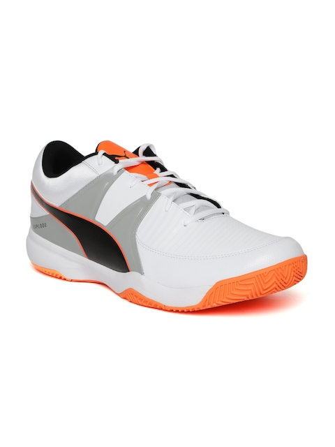 Puma Men White & Grey Explode 3 Colourblocked Badminton Shoes