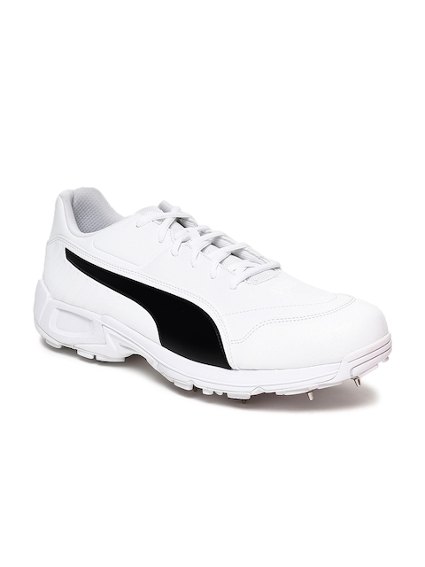 Puma Men White evoSPEED 18.1 C Spike Cricket Shoes