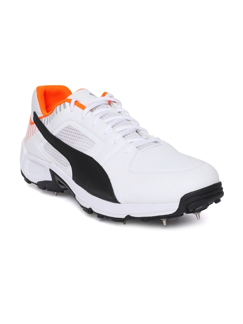 0e264d1c36 50%off Puma Men White Team Full spike II Cricket Shoes