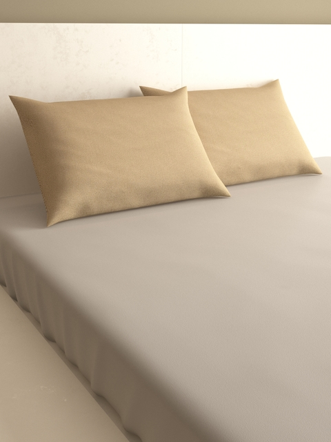 Mark Home Set Of 2 Beige Pillow Covers