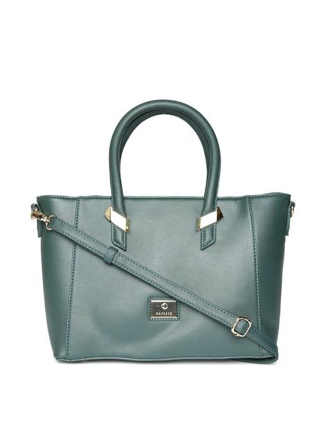 Caprese Green Solid Handheld Bag