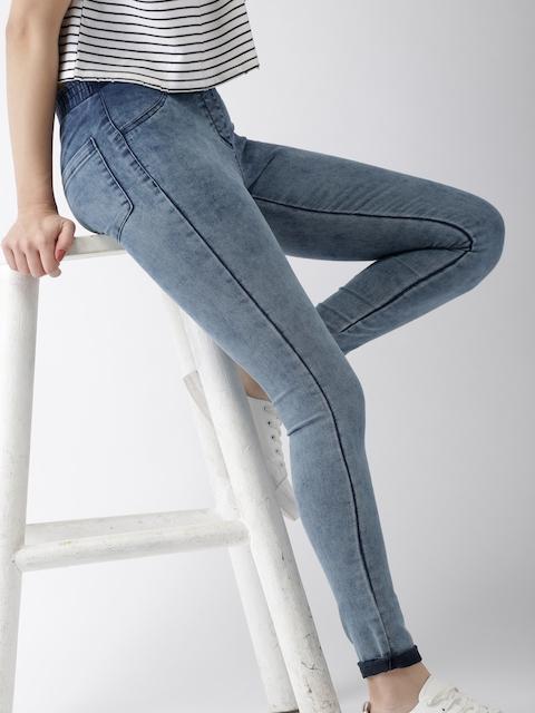 Mast & Harbour Women Blue Super Skinny Fit Stretchable Denim Jeggings