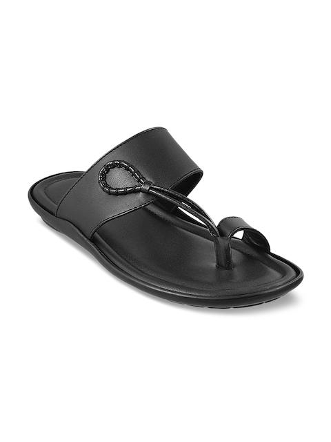 Metro Men Black Comfort Sandals
