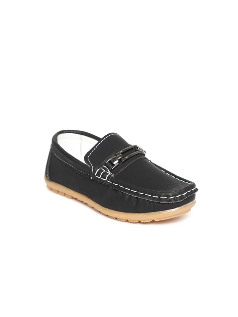 Kittens Boys Black Horsebit Loafers