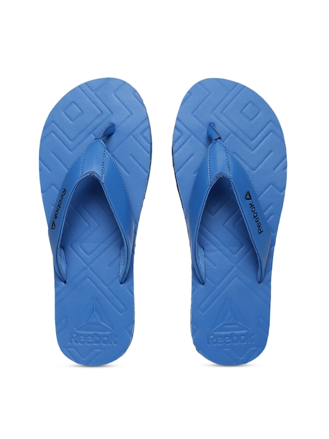 Reebok Men Blue Solid Thong Flip-Flops