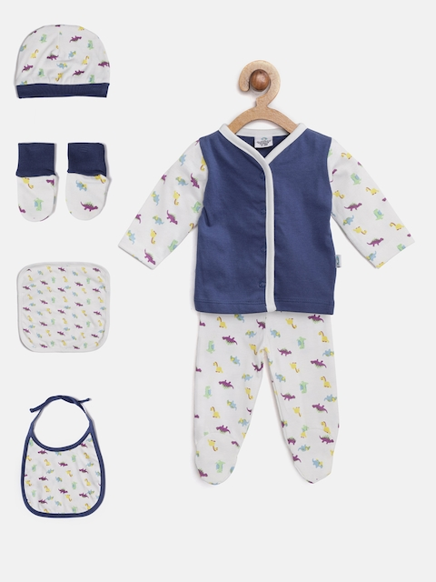 Cuddledoo Unisex Navy & White Clothing Set
