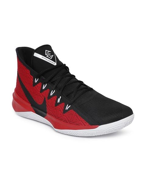 Nike Men Black ZOOM EVIDENCE III Mid-Top Basketball Shoes