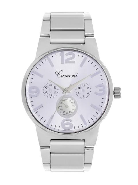 Camerii Women Silver-Toned Dial Watch WM100