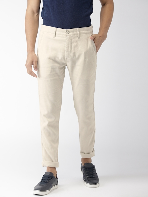 Levis Men Beige 512 Slim Fit Solid Chinos