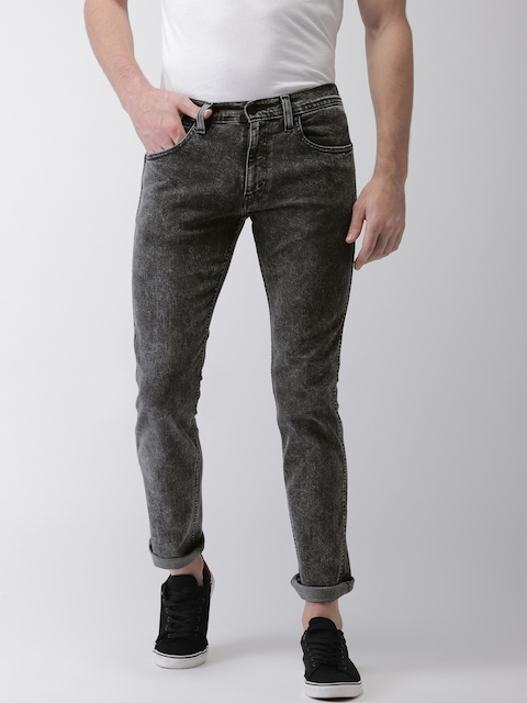 Levis Men Black Skinny Fit Mid-Rise Clean Look Stretchable Jeans 65504